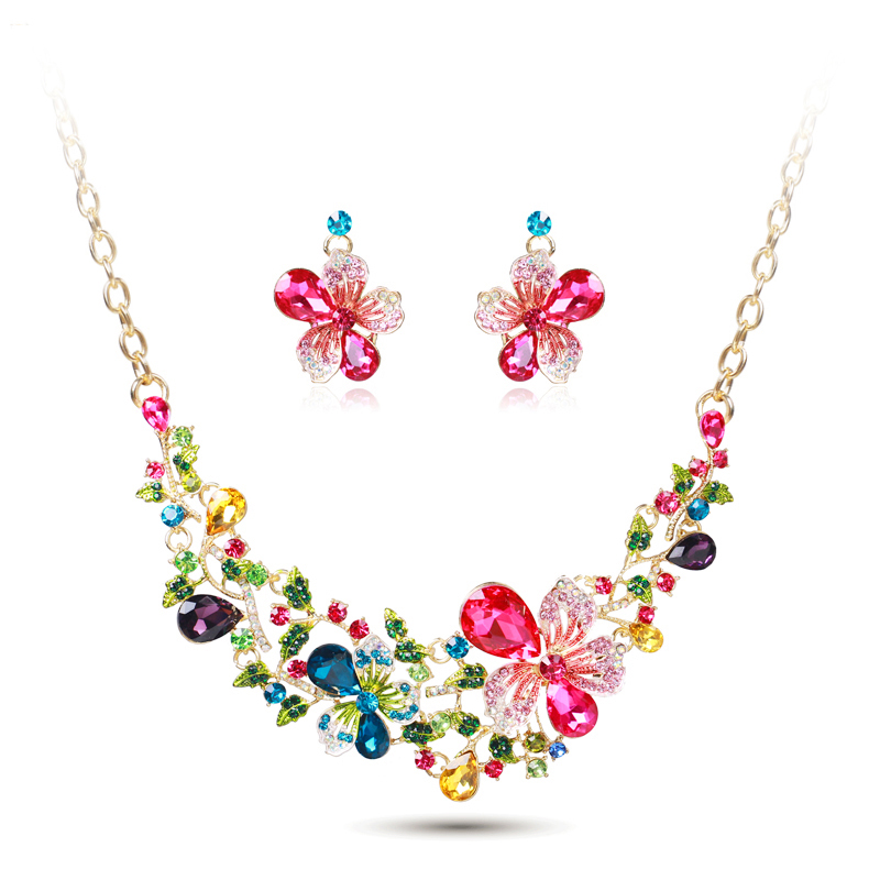 Ztech High Quality Romantic Necklace Earring Jewelry Set  for Women