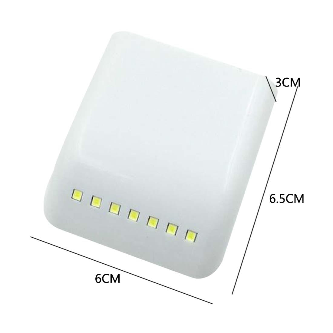 IR Infrared Motion Sensor Light Mini LED Night Lamp Drawer Cabinet Cupboard Wardrobe Closet AAA Battery Operated Home Decor