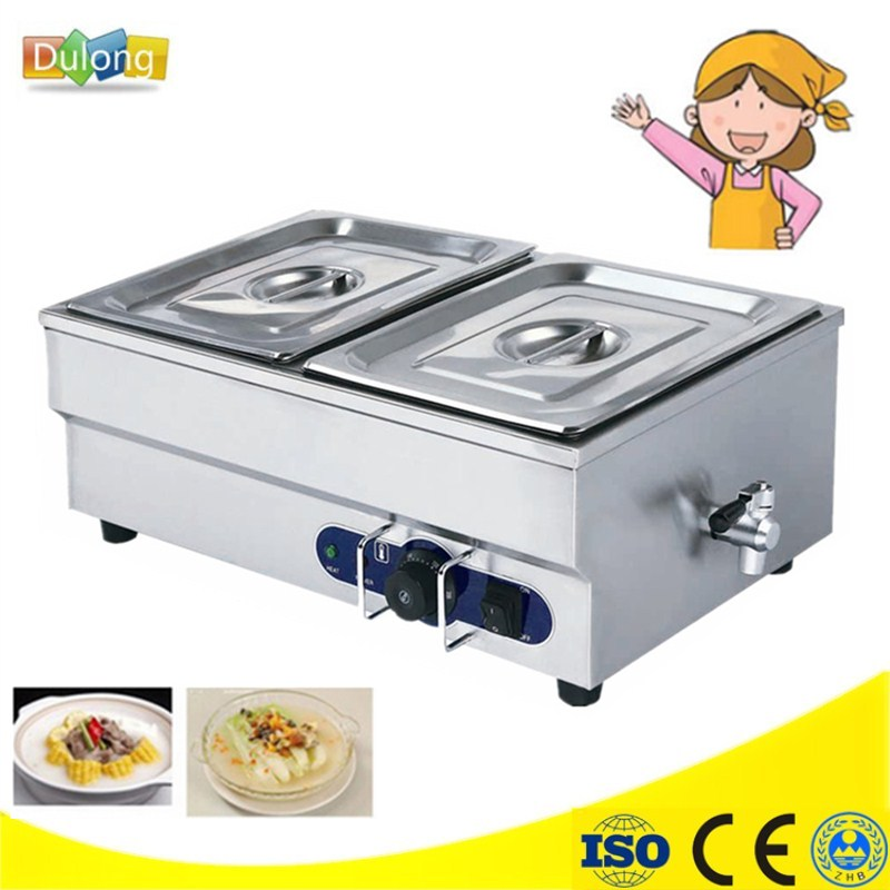 Home Use Stainless Steel Electric Bain Marie With 2 Pans For Commercial Kitchen Insulated Electric Food Warmer