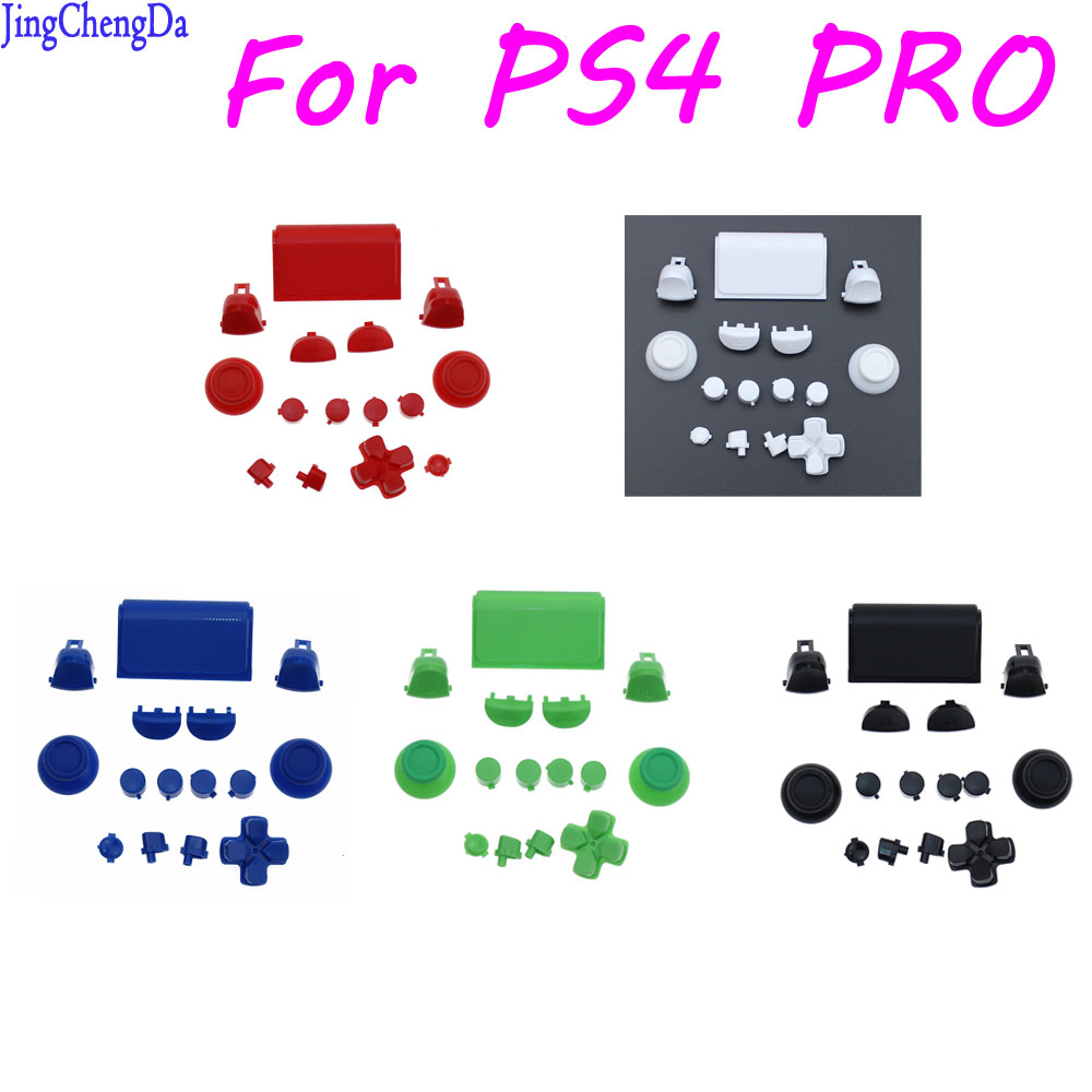Jing Cheng Da 10SETS Replacement Full Buttons Custom Mod Kit Set For Sony PS4 Playstation Pro CUH-ZCT2 Controller