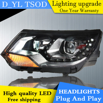 Car Styling For VW Tiguan headlights 2013-2015 Tiguan led headlight Head Lamp led drl projector headlight H7 hid Bi-Xenon Lens
