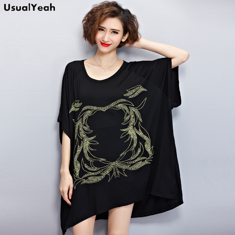 Plus Size Women Clothing Summer Style T-shirts 4XL Short Batwing Sleeve Soft Cotton Loose Plus Size Tunic Shirts SY0019