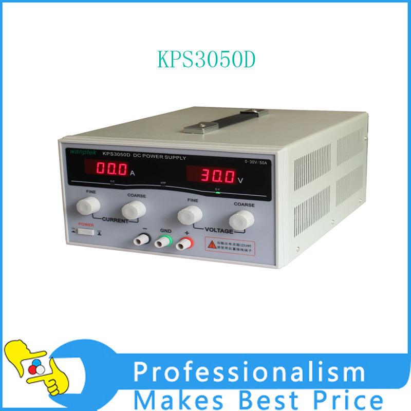 KPS3050D High precision High Power Adjustable LED Dual Display Switching DC power supply 220V EU 30V/50A switch power kps3010d adjustable high precision double led display switch dc power supply protection function 30v10a 110v 230v
