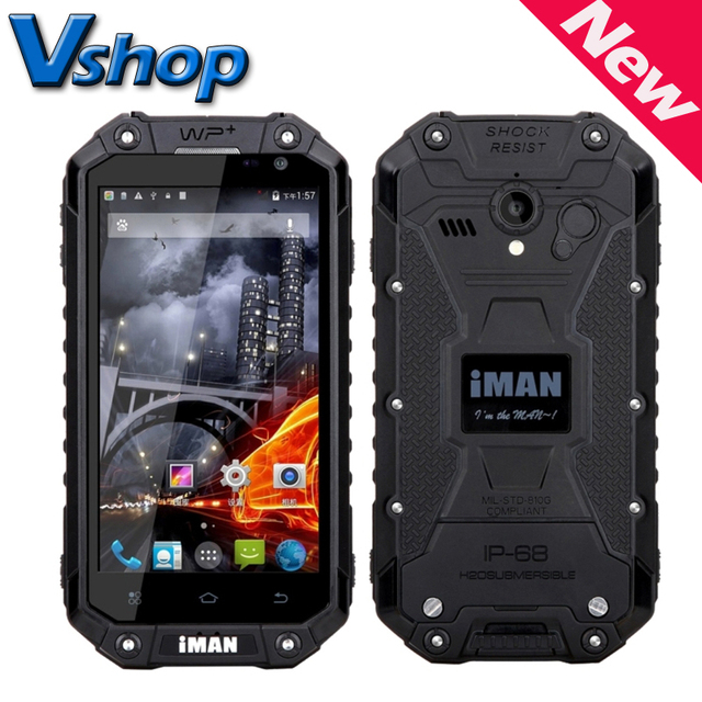 "Original iman i6 3g wcdma teléfono móvil ip68 a prueba de agua a prueba de polvo a prueba de choques 4.7 ""mtk6592 octa core 1.57 ghz rom 16 gb smartphone"