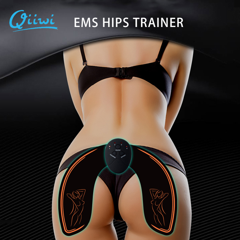 EMS Hip Trainer Muscle Vibrating Exercise Machine Fitness Buttocks Butt Lifting Buttock Toner Trainer Slimming Massager Unisex ems hips trainer