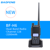 2019 Baofeng Dual band two way radio BF H6 Powerful Walkie Talkie 136 174MHz 40 520MHz Handy Talky PTT Radio Amateur