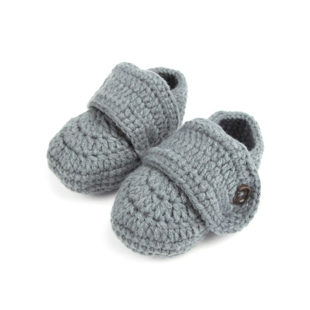 Winter Newborn Girl Baby Shoes Handmade Toddle Baby Crib Shoes Infant Boys Girls Crochet Knit Winter Warm Booties