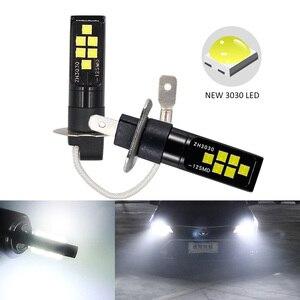 Image 1 - 2 CHIẾC H3 H1 Xe Sương Mù Bóng Đèn LED 3030 12 ĐÈN LED Xi Nhan CANBUS Đèn DRL Xe Lái Xe Chạy Đèn Tự Động đèn LED Bóng Đèn Trắng 12V