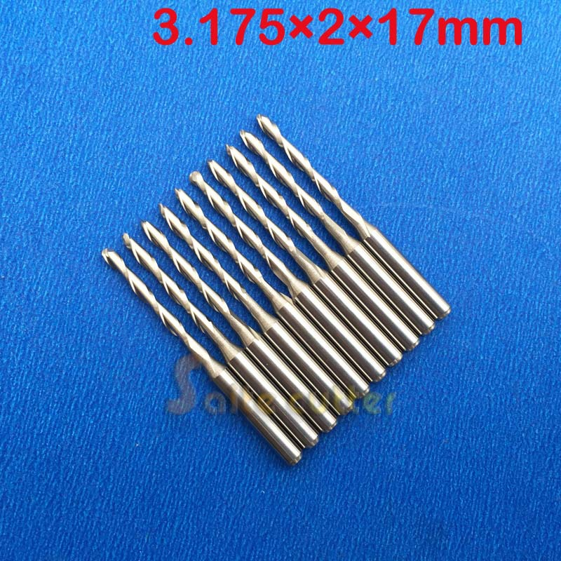 10 pcs/lot 3.175x2x17mm 2 Flutes Ball Nosed End Mill, CNC Router Bits, Milling Cutters, Solid Carbide, Cutting Tools  цены