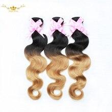 Ombre Human Hair Ombre Human Hair Extensions 1B 27 Ombre Virgin Hair Body Wave 3 Bundles 7A Ombre Brazilian Hair Weave Bundles