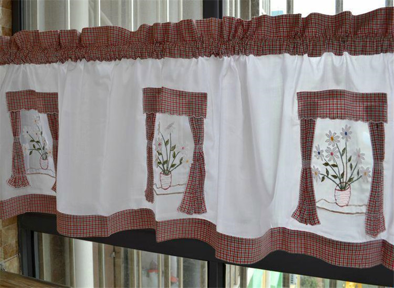 Buy cotton embroidered window curtain for - Visillos cocina online ...