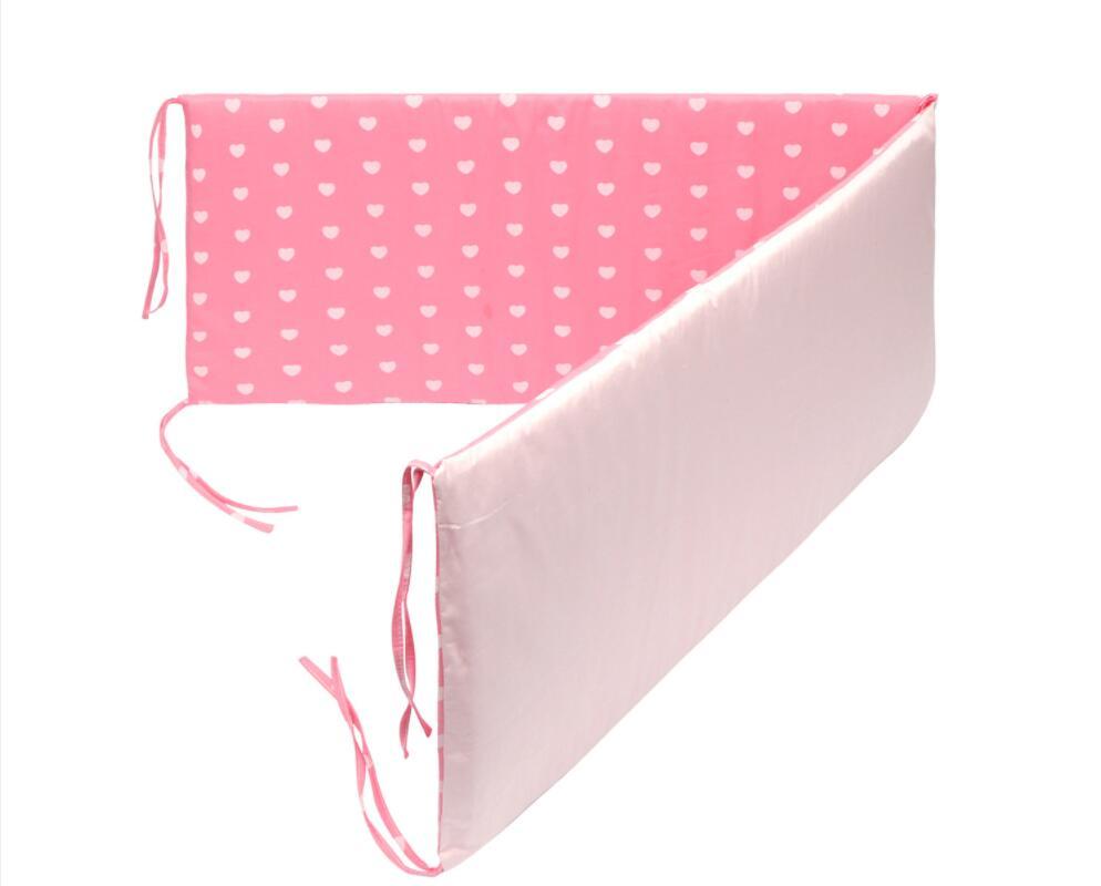Пересечение границы детское ограждение для кровати кровать вокруг ребенка анти-столкновения хлопок Съемный и моющийся Детская кровать бампер кроватка - Цвет: pink hear love