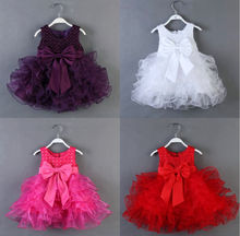 Adorable Girls Baby Kids Sequin Princess Pageant Tulle Layered Formal Dress 1~7Y