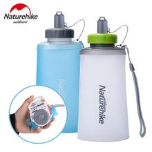 купить Naturehike Portable Folding Water Bag Ultralight Outdoor Mountaineering Silicone Sports Drinking Bag Bottle Water Cup NH61A065-B дешево
