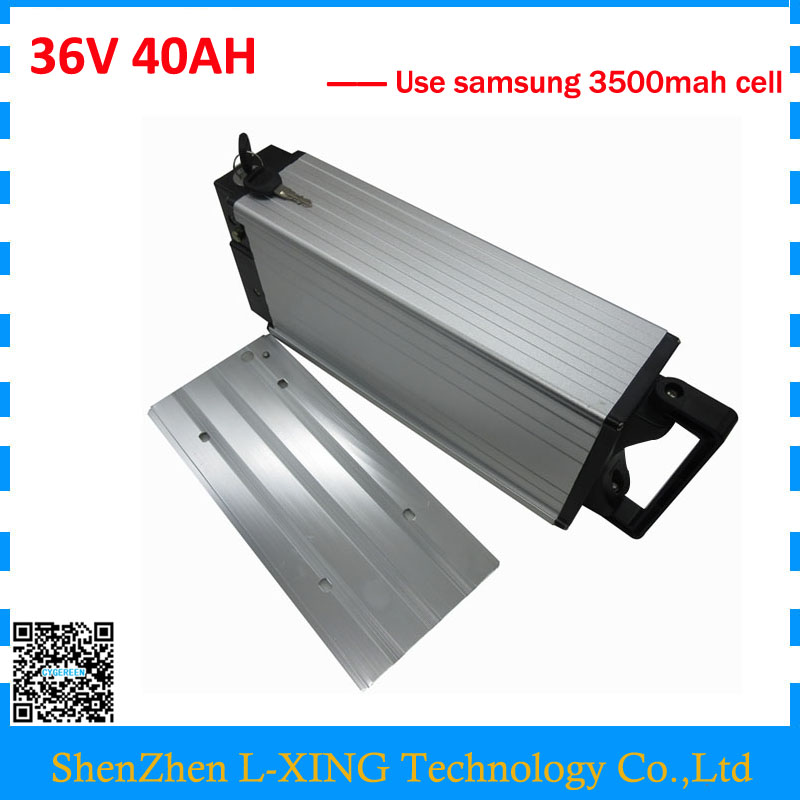 Free customs fee 36v 40ah battery 36V rear rack battery 40AH use samsung 3500mah cell 30A BMS with 3A Charger free customs fee 51 8v 20ah lithium battery 52 v 20ah battery 52v li ion battery use 3 7v 2500mah cell with 30a bms 2a charger