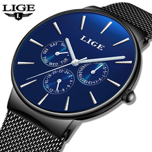 2019 LIGE New Fashion Casual Quartz Men Watch Waterproof Ultra Thin Sports Mens Watches Top Brand Luxury Wrist For