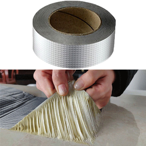 Aluminum Foil Adhesive Tape Waterproof Duct Tape Super Repair Crack Thicken Butyl Waterproof Tape Home Renovation Tools(China)