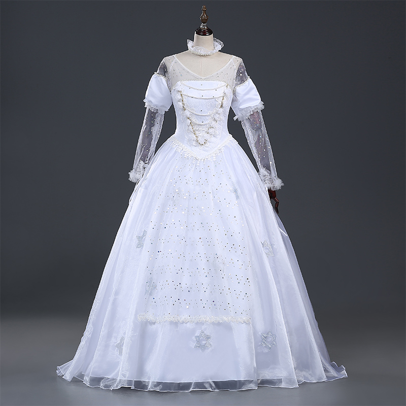 New Alice in Wonderland Costume The White Queen Costume Dress Halloween Cosplay Costume