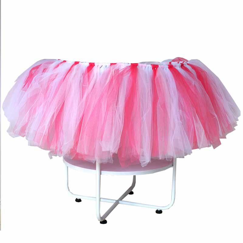 Baby Shower Party Dining Table Decoration Table Skirt Baby High Chair Tutu for Baby First Birthday Party Decor