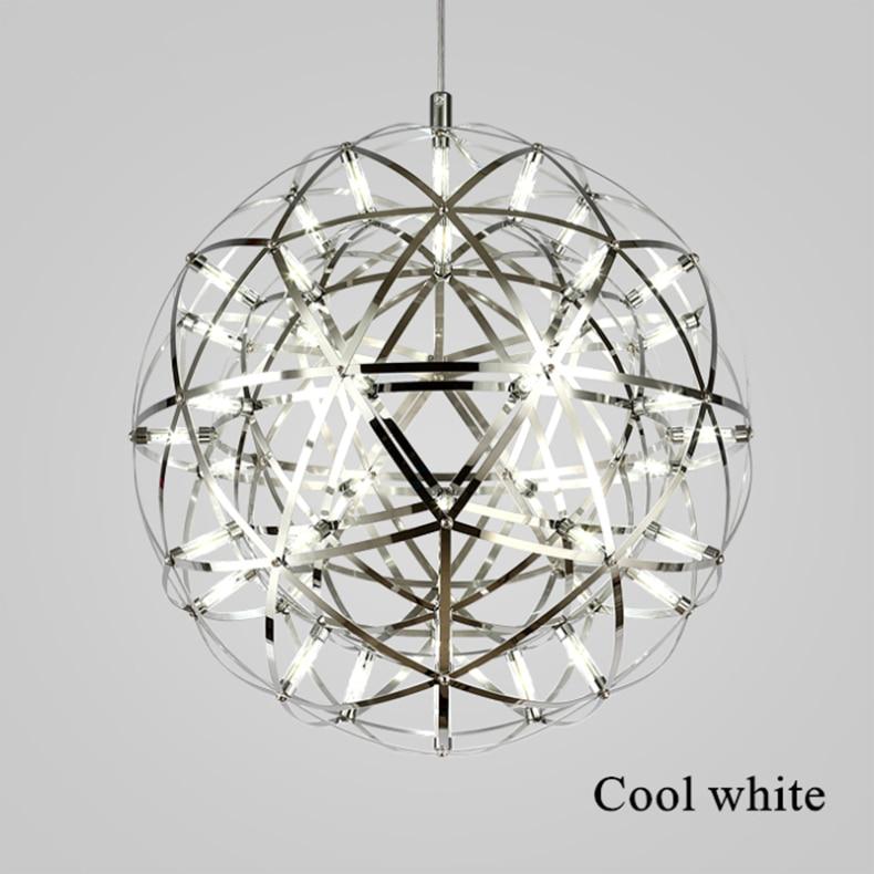 firework stainless steel chandelier led lamp loft 6