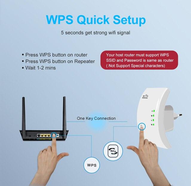 Répéteur Wifi sans fil 300Mbps wifi Extender longue portée répéteur Point d'accès wi-fi 802.11n/b/g amplificateur de Signal Wifi Booster 4