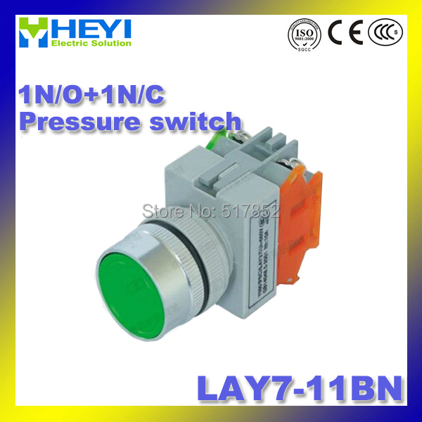 Lay7-11bn реле давления 22 мм (y090-11bn) 1N/O + 1N/c кнопочный 50/60 Гц переключатель даже кнопку (мгновенный Motion)