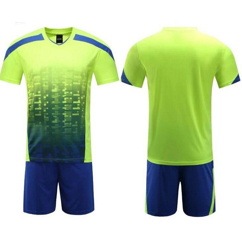 Prix pour Survetement football haute qualité paintless enfants soccer jersey uniformes hommes de formation de football jersey kits personnalisation équipe ensemble