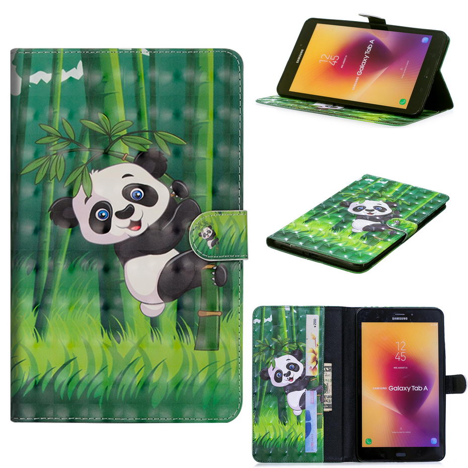 3D Painting PU Leather Case For Samsung Galaxy Tab A 8.0 T380 T385 2017 8.0 Inch Case Cartoon Tablet Stand Funda