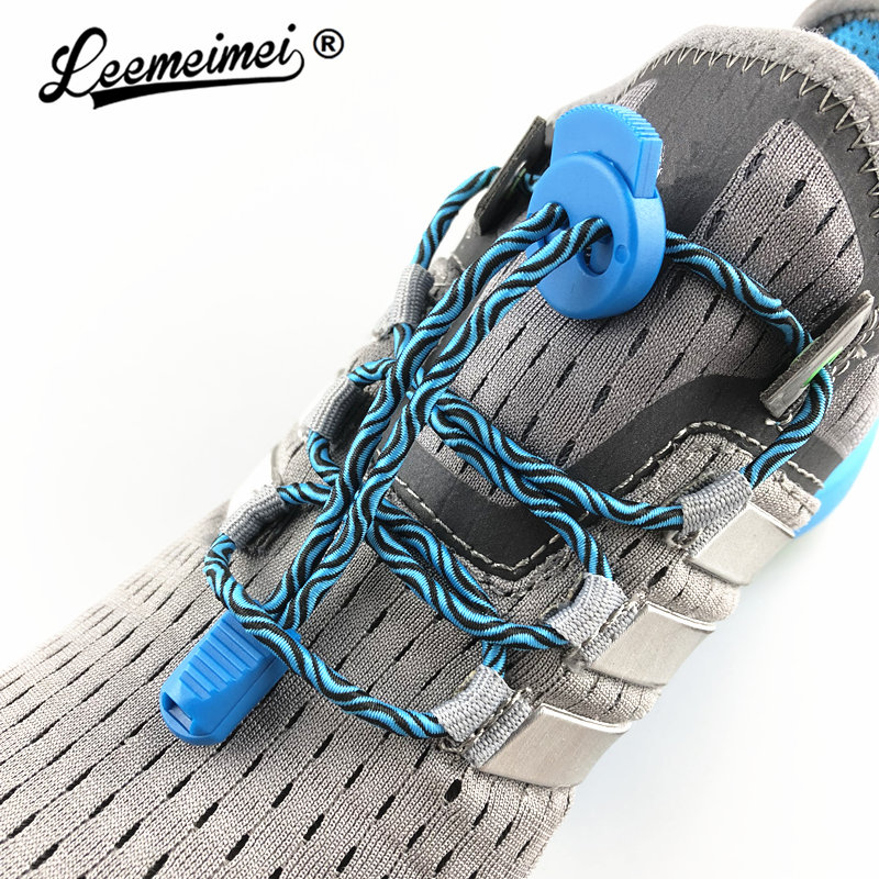 Stretching Lock lace 7 colors a pair Of Locking Shoe Laces Elastic Sneaker Shoelaces Shoestrings Running/Jogging/TriathlonStretching Lock lace 7 colors a pair Of Locking Shoe Laces Elastic Sneaker Shoelaces Shoestrings Running/Jogging/Triathlon