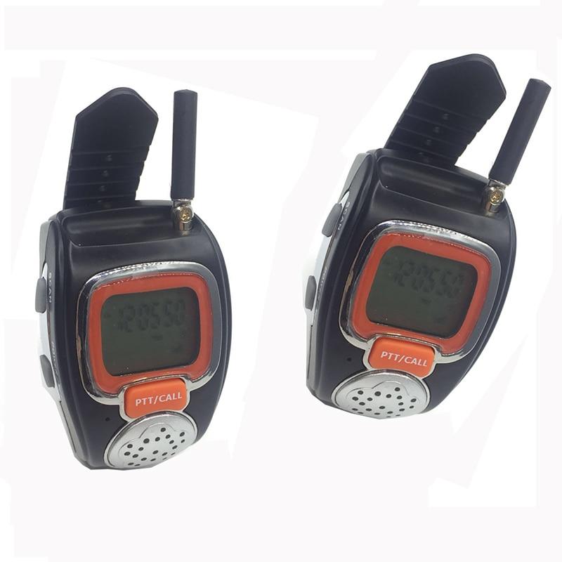 2pcs Intercom Scanner Wrist Watch Walkie Talkie Radio Two 2 Way Radio Watch Interphone For Portable