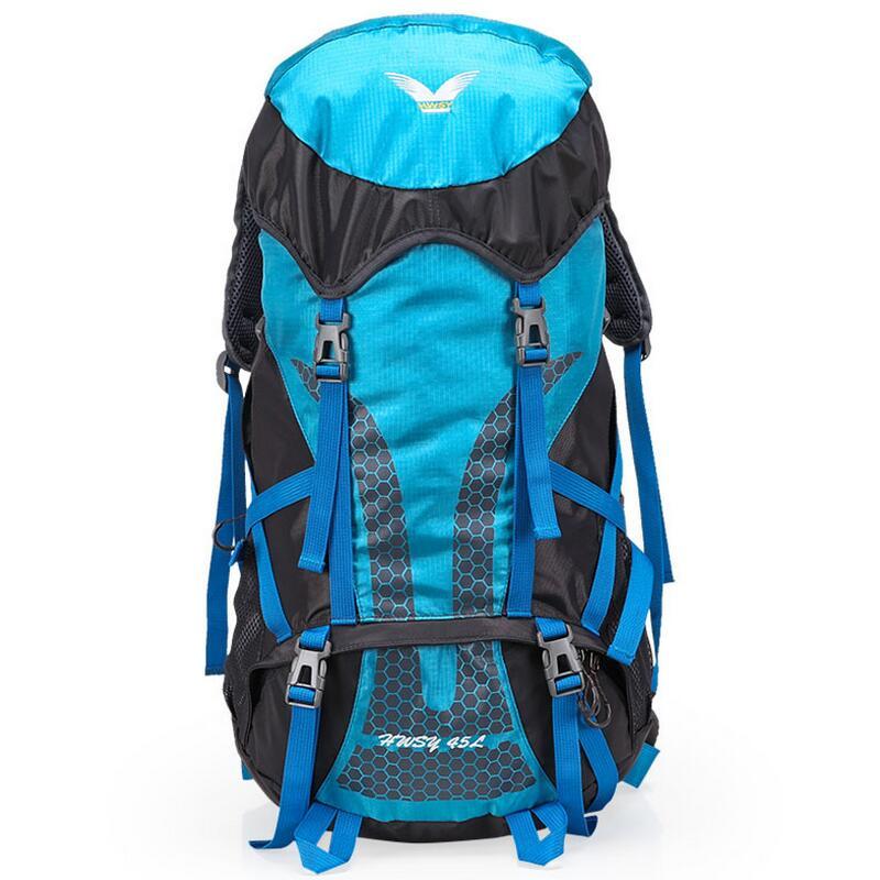 Outdoor Camping Backpack 45L Mountaineering Bags Hiking Rucksack Ultralight Waterproof Riding backpack Travel Backpacks