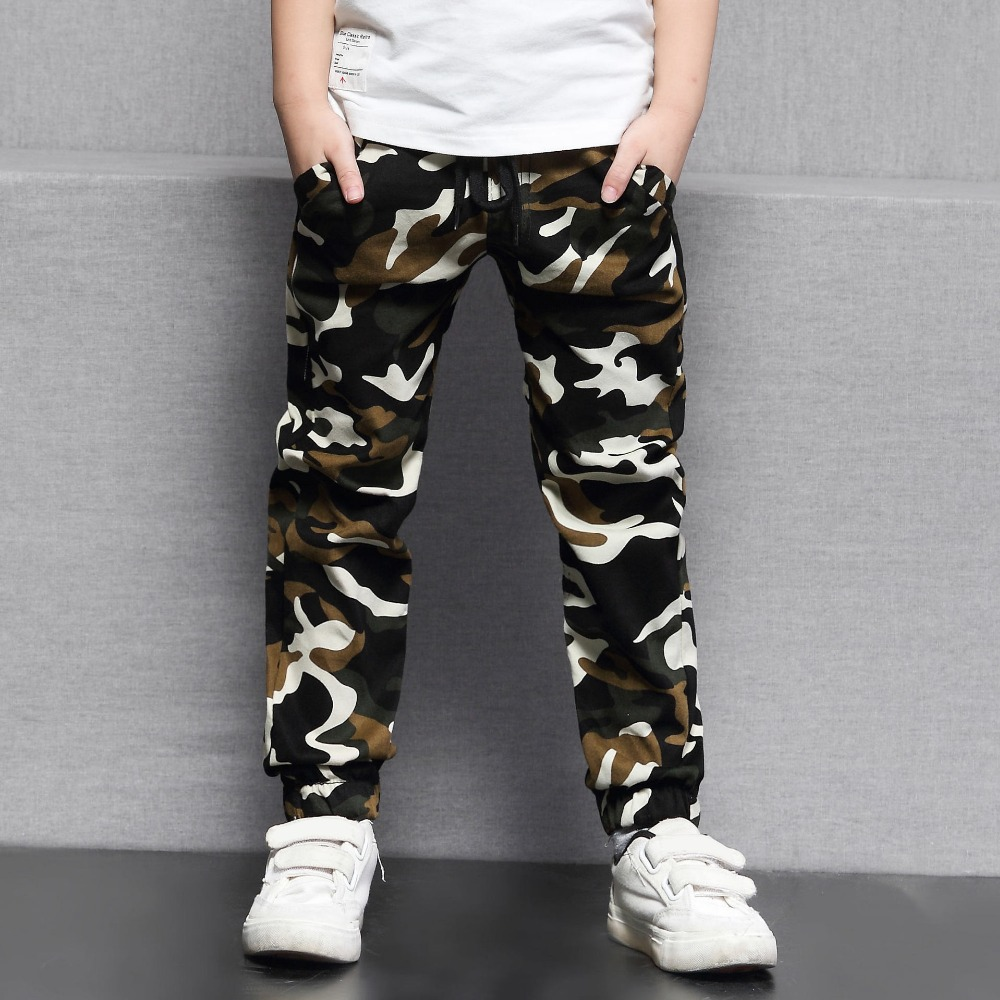 DIIMUU 5-10Y Kids Child Casual Camouflage Trousers Long Pants Clothes Young Children Boys Fashion Military Denim Pants(China)
