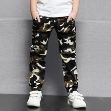 DIIMUU 5-10Y Kids Child Casual Camouflage Trousers Long Pants Clothes Young Children Boys Fashion Military Denim