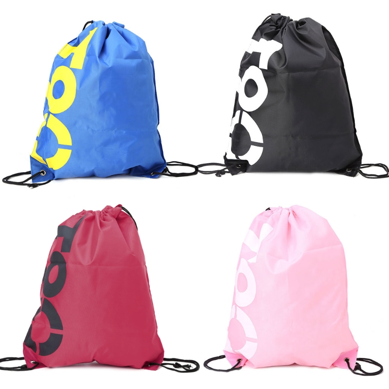 1Pc Backpack Shopping Drawstring Bags Waterproof Travel Beach Gym Shoes Sports Pack Drawstring Backpack