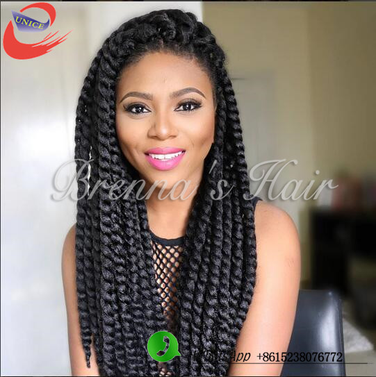 : Buy Crochet havana mambo twist hairstyles synthetic braiding hair ...
