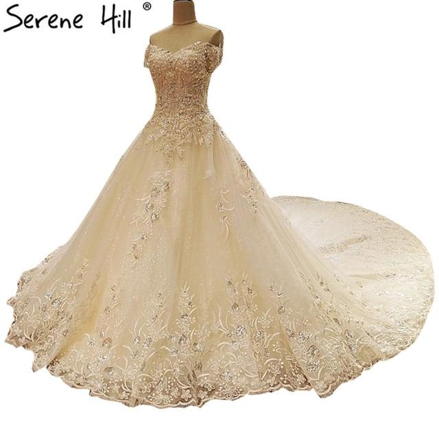 Vestido de novia color perla