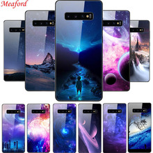 Popular Case For Samsung Galaxy S10 Plus Case Glass Hard Back Cover For Samsung S10 Plus Phone Case TPU Frame S10+ SM-G975 Funda чехол для samsung galaxy s10 sm g975 silicone cover белый