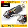 Modifiedl TTR CBR125 CBR400 CBR YZF YBR escape akrapovic tubo de escape da motocicleta silenciador tubo de escape de moto moto acessórios