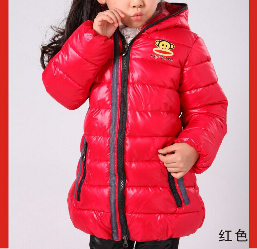 f2faeae5485c Christmas Gift Down Puffer Jacket Kids Girls Boys Clothes Zip Double ...