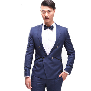 High qulity mens suits fashion two-piece slim mens wedding suits handsome fashion groom wedding suits(jacket+pants)