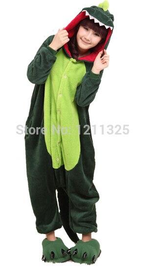 Free Shipping Adult Animal Romper Unisex Flannel Jumpsuit Onsie Fancy Dress Costume dinosaur Animal Onesie Pajamas size S-XL