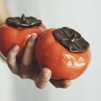 KINGLANG kreatywny ręcznie robione ceramiczne naczynie na herbatę zamknięte puszki  ozdoby  do przechowywania herbaty  puszki do herbaty w Czarki do herbaty od Dom i ogród na