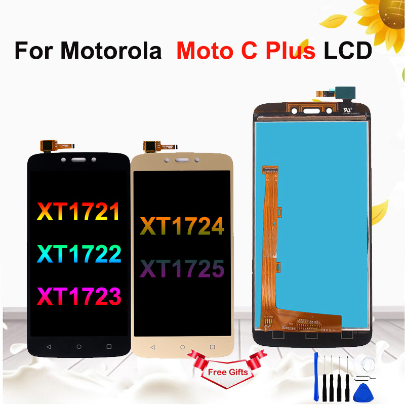 "5.0"" LCD For Motorola Moto C Plus XT1721 XT1722 <font><b>XT1723</b></font> LCD Touch Screen Digitizer Assembly for Moto C Plus Display image"