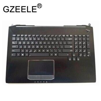 GZEELE NOVO para Asus G750JX G750JW G750 G750JH G750JM Inglês teclado Do Portátil com retroiluminado e Descanso de Mãos top case palmrest Superior