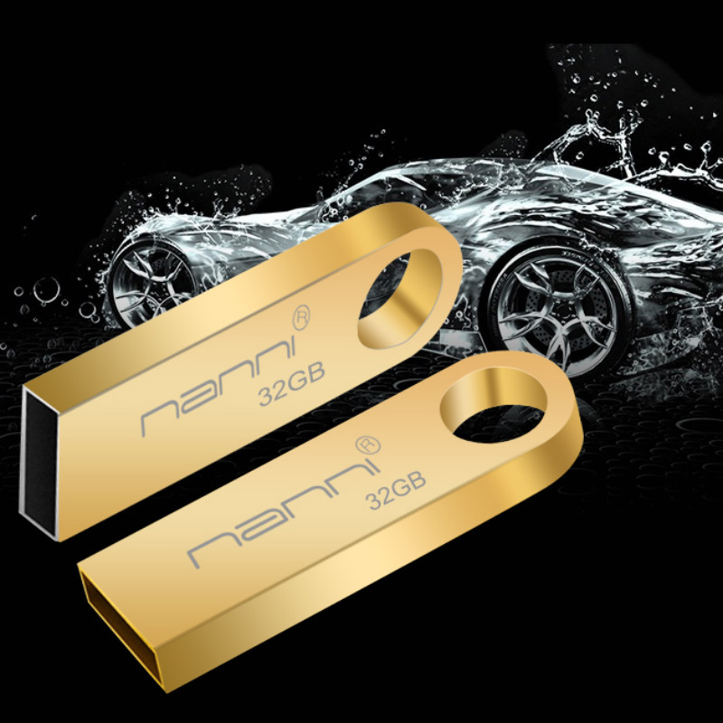 USB Flash Drive Customized Metal 32GB 16GB 8GB 4GB Pendrive Mini Pen drive USB2.0 for Ex ...