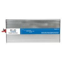 Мощность 1500 Вт DC вход 12 В в В 24 В 48 В AC выход 110 V 220 V Чистая синусоида off grid Tie инвертор на заказ Солнечный светодио дный светодиодный дисплей Вт
