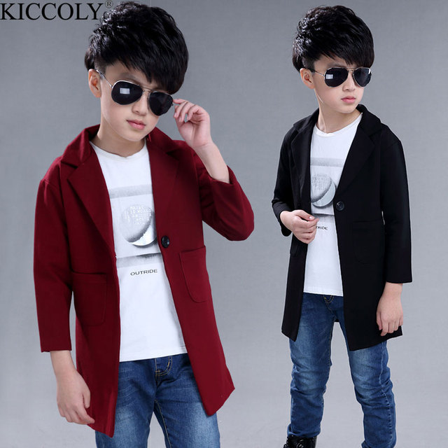 06880e0eb Boys Wedding Jacket Fashion Long Style Boys Jacket Long Sleeve Boys ...