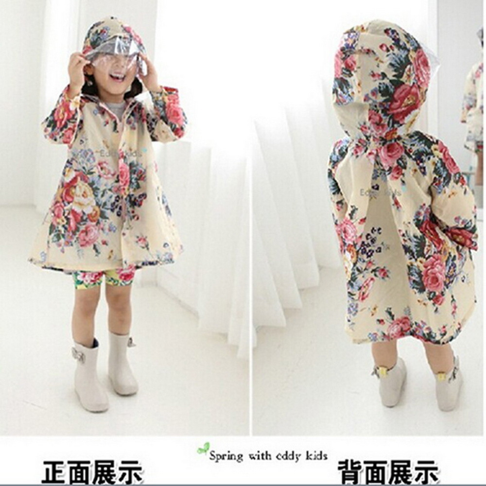Baby Children Raincoat Girl Snow White Lovely Poncho Japan And South Korea Edition Fashion Girl Rain Gear