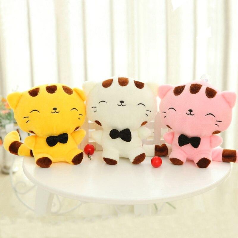 만화 귀여운 인형 고양이 인형 박제 고양이 장난감 19CM 생일 선물 고양이 높은 7.5 인치 어린이 장난감 인형 장난감 인형 소녀를위한 선물
