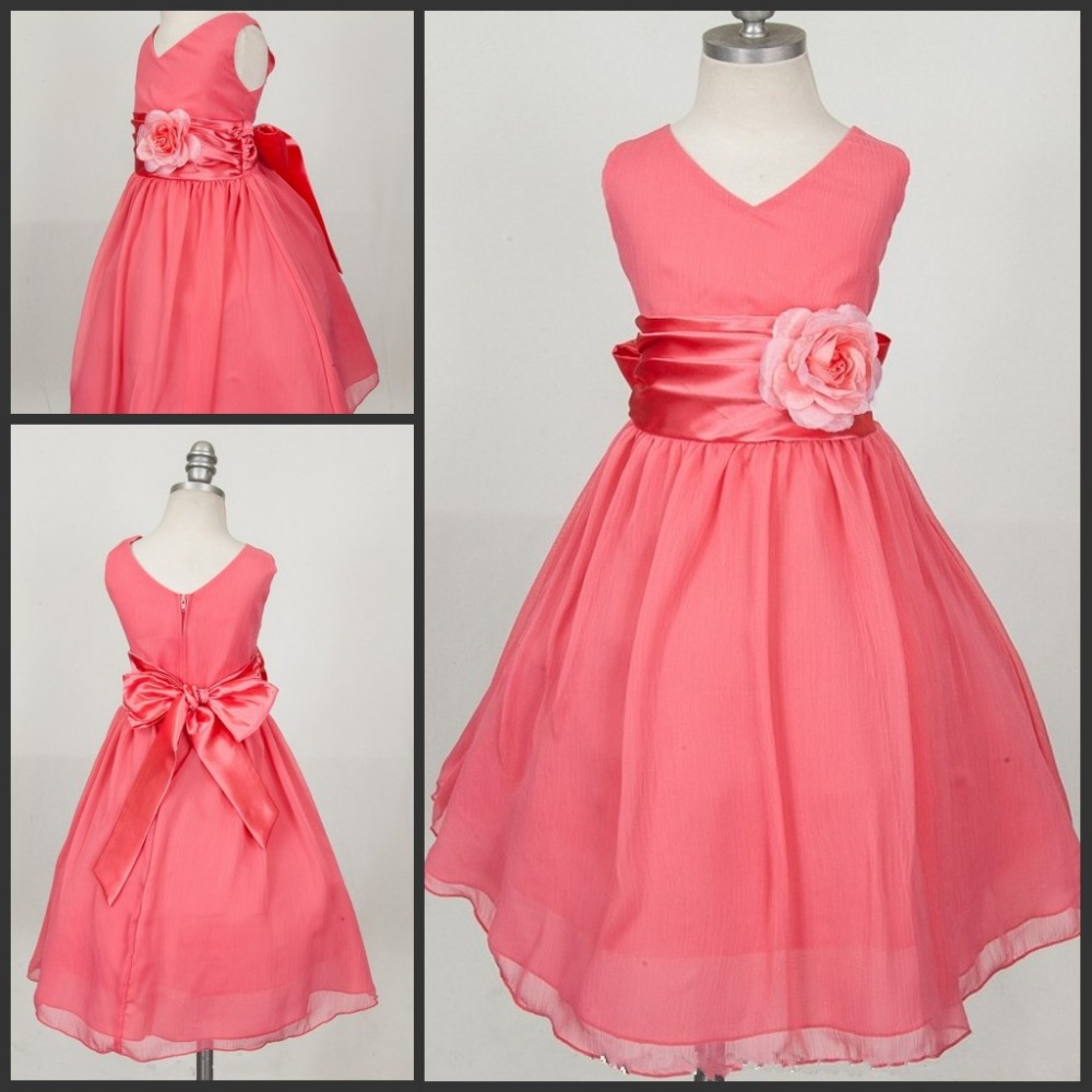 Online Get Cheap Coral Flower Girl Dresses -Aliexpress.com ...